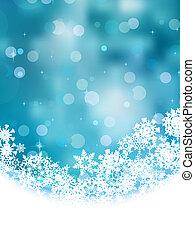 藍色, snowflakes., eps, 背景, 8
