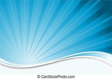 藍色, starburst, 背景