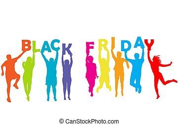 藏品, 人們, 信件, 黑色, 星期五, 提供, 黑色半面畫像