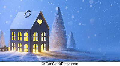 藝術, 圣誕節卡片, 問候