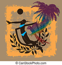 藝術, 太平洋, 矢量, 迸發, 海灘