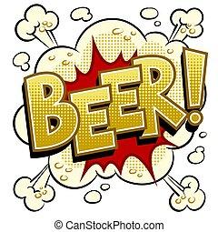 藝術, 插圖, 啤酒, 矢量, 流行音樂, 詞, 喜劇演員書