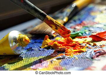 藝術, 調色板