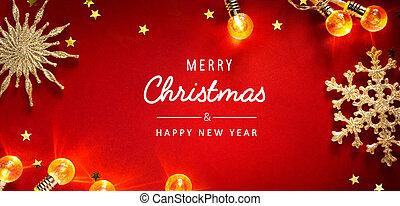 藝術, 邀請, 假期, 圣誕節季節, 卡片, 背景, 旗幟, 問候, 或者