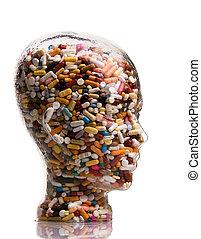藥, 醫治, 小塊, 疾病