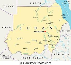蘇丹, 地圖, 政治