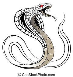 蛇, 矢量, 眼鏡蛇