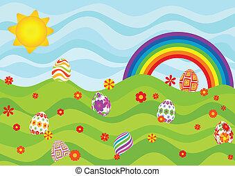 蛋, 天, 復活節, 陽光普照