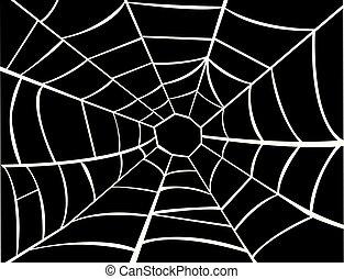 蜘蛛網, 矢量, 插圖