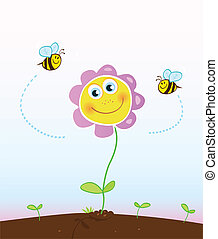 蜜蜂, 花