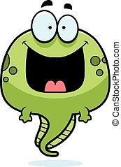 蝌蚪, 卡通, 愉快