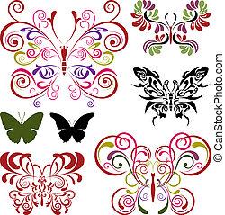 蝴蝶, 元素, 集合