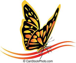 蝴蝶, 帝王, 矢量, 標識語