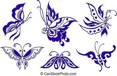 蝴蝶, 插圖