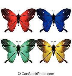 蝴蝶, 白色, 針對