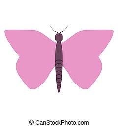 蝴蝶, 符號, 卡通, 被隔离