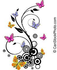 蝴蝶, 鮮艷