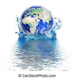 行星地球, 下降, 水, 相象
