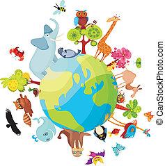 行星, 動物