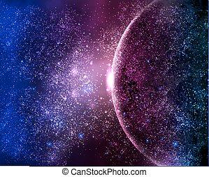 行星, 天空, 夜晚, 星, 空間