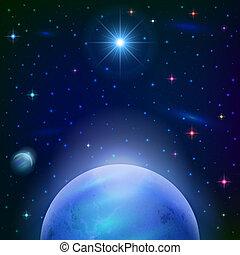 行星, 太陽背景, 空間