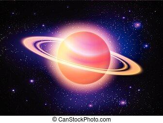 行星, 深, 空間