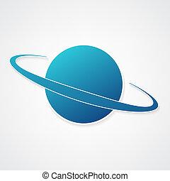 行星, 藍色, 圖象