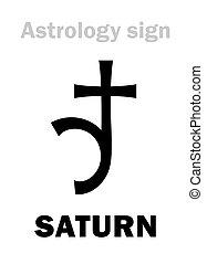 行星, astrology:, 土星