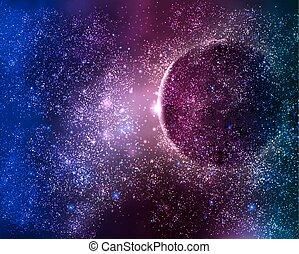 行星, starry 天空, 夜晚