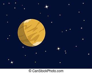 行星, venus, 土星, 或者