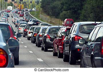 行, 交通堵塞, 汽車