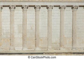行, 希臘語, 牆, 柱子