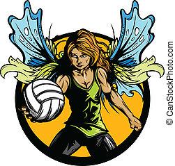 表演者, 仙女, 女性, 排球