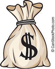袋子, 美元徵候, 錢