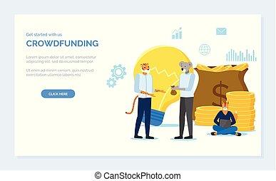 袋子, 行家, 動物, crowdfunding, 錢