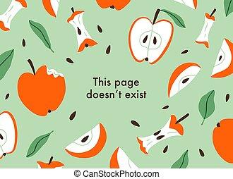 被切成薄片, 背景, 矢量, 蘋果, 頁, 錯誤, 吃