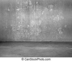 被成雜色, 混凝土, 房間, 背景