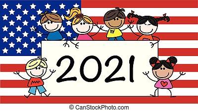被摻和种族, 愉快, 2021, 集箱, 孩子