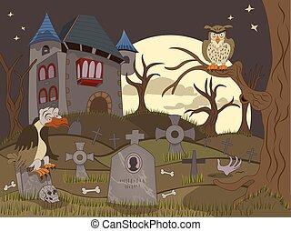 被放棄, 墓地