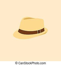被隔离, 插圖, 矢量, 圖象, 帽子, 人