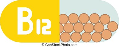 被隔离, 維生素b12, 背景, 白色的藥丸
