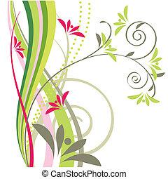 被風格化, 植物群的設計, 元素