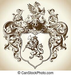 裝飾華麗, heraldic, 象征