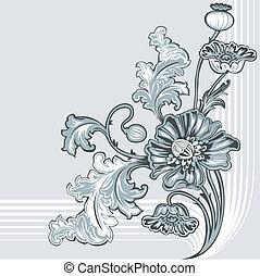 裝飾, 罌粟, 花