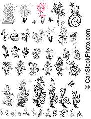 裝飾, 花的要素, 設計, (