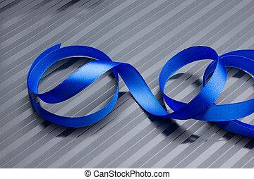 裝飾, 藍色, 禮物, 帶子