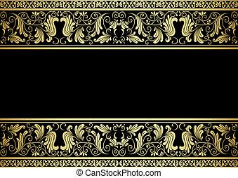 裝飾, 鍍金, 框架, 元素