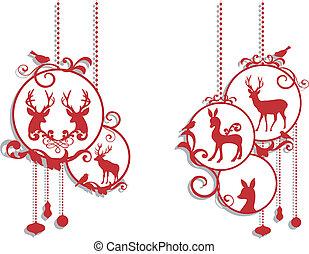 裝飾, 鹿, 聖誕節
