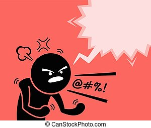 要求, 人, 憤怒, 他的, 不滿, 非常, 忿怒, 憤怒, why., 表達