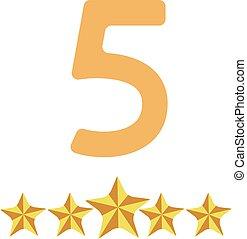 規定值, 背景, 被隔离, 五, 星, 白色